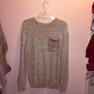 UO oversized fit textured knit sweater with pocket